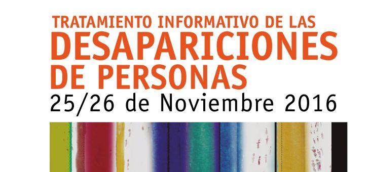 Profesionales de la información debaten el tratamiento de las desapariciones