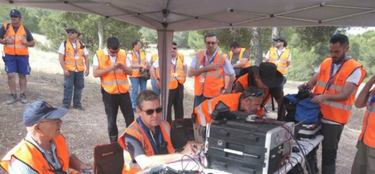 La REMER realiza un simulacro para la localización de una persona desaparecida en Murcia