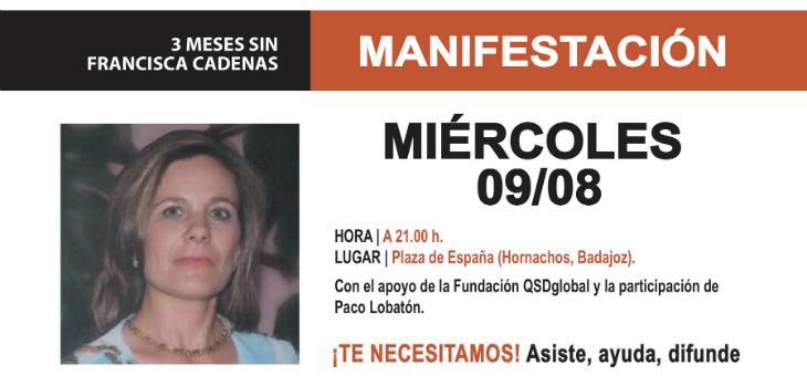 Concentración por Francisca Cadenas cuando se cumplen 3 meses de su desaparición