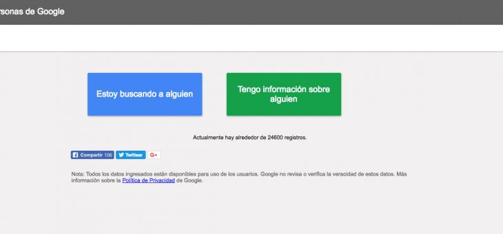 Google activa un localizador para encontrar a los desaparecidos en el terremoto de México