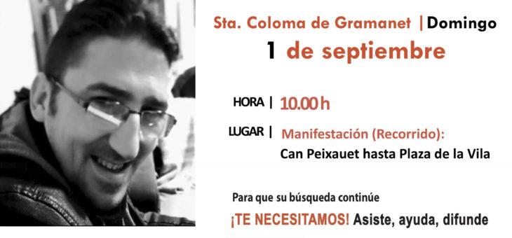 CONVOCADA UNA MANIFESTACIÓN POR ÓSCAR GONZÁLEZ, DESAPARECIDO EN SANTA COLOMA DE GRAMANET (BARCELONA)